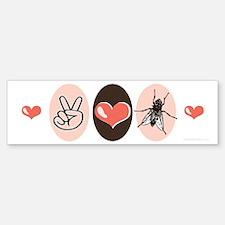 Peace Love Entomology Bumper Bumper Bumper Sticker