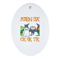 Camden Says Trick or Treat Oval Ornament