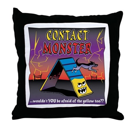 The Contact Monster Throw Pillow By Beautybeasts