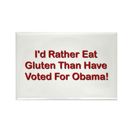 I'd Rather Eat Gluten Rectangle Magnet (100 pack)