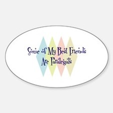 Paralegals Friends Oval Decal