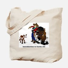Cutting Horse Meeting Cow Tote Bag