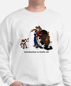 Cutting Horse Meeting Cow Sweatshirt