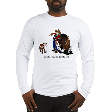 Cutting Horse Meeting Cow Long Sleeve T-Shirt