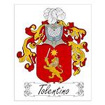 Tolentino Family Crest Small Poster