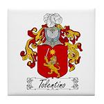 Tolentino Family Crest Tile Coaster