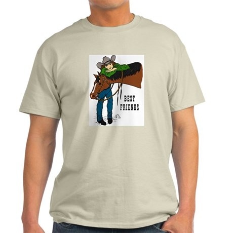Girl and Horse - western Light T-Shirt