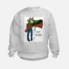 Girl and Horse - western Sweatshirt