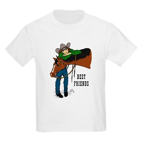 Girl and Horse - western Kids Light T-Shirt