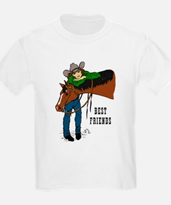 Girl and Horse - western T-Shirt