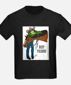 Girl and Horse - western T