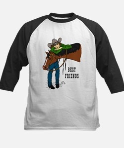 Girl and Horse - western Tee