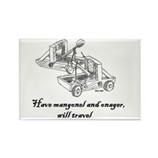 Cute Onager Rectangle Magnet