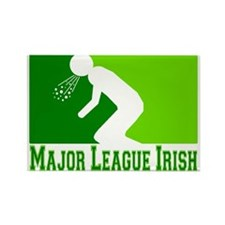 Major League Irish Rectangle Magnet
