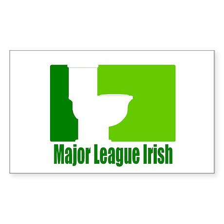 Major League Irish Rectangle Sticker