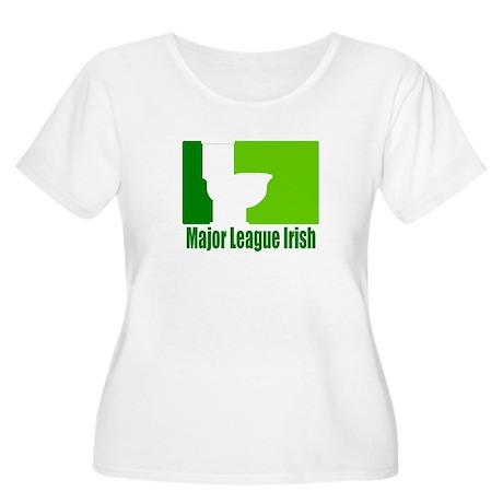 Major League Irish Women's Plus Size Scoop Neck T-