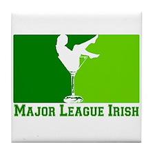 Major League Irish Tile Coaster