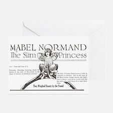Mabel Normand Slim Princess 1920 Greeting Card