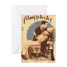 Carole Lombard Ricardo Cortez 1932 Greeting Card
