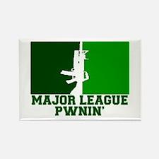 Major League Pwnin' Rectangle Magnet