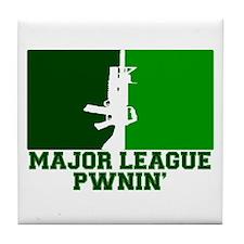 Major League Pwnin' Tile Coaster