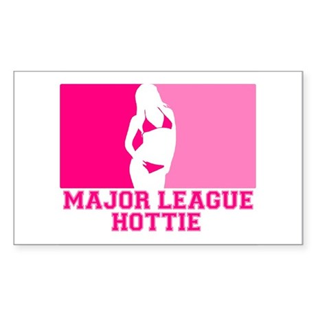 Major League Hottie Rectangle Sticker