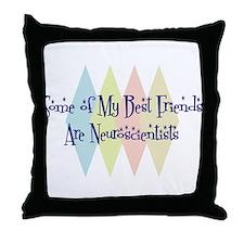 Neuroscientists Friends Throw Pillow