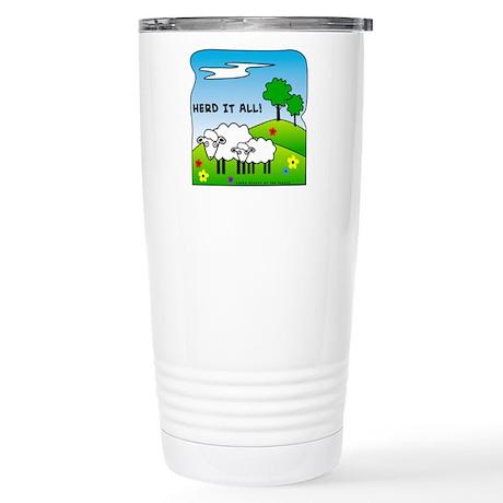Herd It All! Stainless Steel Travel Mug