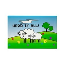 Herd It All! Rectangle Magnet