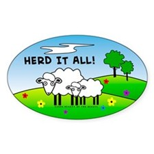 Herd It All! Oval Stickers