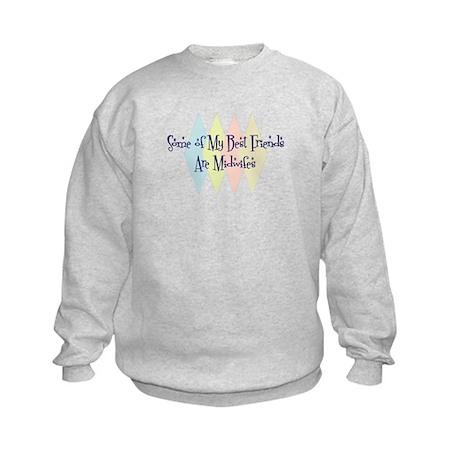 Midwifes Friends Kids Sweatshirt