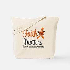 Leukemia: Faith Matters Tote Bag