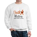 Leukemia: Faith Matters Sweatshirt