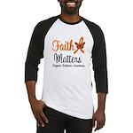 Leukemia: Faith Matters Baseball Jersey