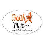 Leukemia: Faith Matters Oval Sticker (10 pk)