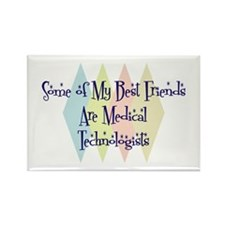 Medical Technologists Friends Rectangle Magnet
