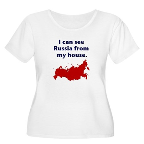 I Can See Russia... Women's Plus Size Scoop Neck T