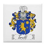Torelli Family Crest Tile Coaster