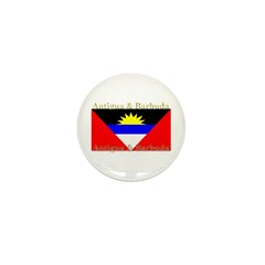 Antigua & Barbuda Flag Mini Button (10 pack)