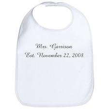 Mrs. Garrison Est. November Bib