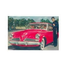 Red Studebaker on Rectangle Magnet