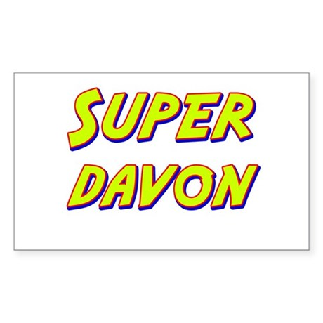 Super davon Rectangle Sticker