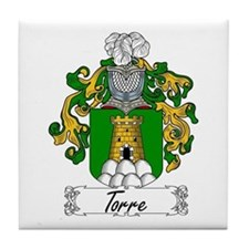 Torre Family Crest Tile Coaster