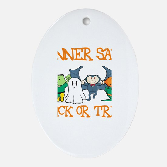 Conner Says Trick or Treat Oval Ornament