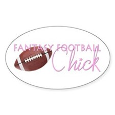 Fantasy Football Chick Oval Decal