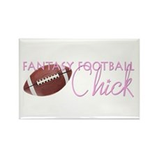 Fantasy Football Chick Rectangle Magnet (100 pack)