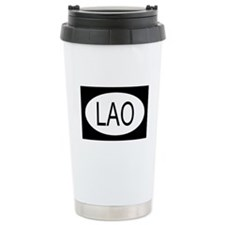 Laos Flag Travel Mug
