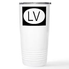 Latvian Flag Travel Coffee Mug