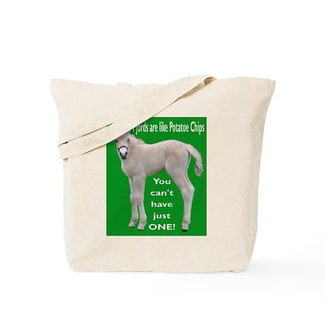 Fjord Horse Chip Design Tote Bag