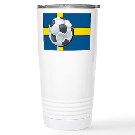 Swedish Soccer Stainless Steel Travel Mug